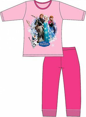 Official Disney Frozen Elsa Anna Olaf  Girls Cotton Pyjamas  4 5 6 7 8 BNWT