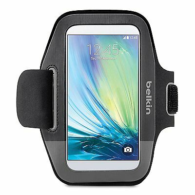 Belkin Sport-Fit Armband for Samsung Galaxy S6 S6 Edge S5 Black/Gravel F8M968