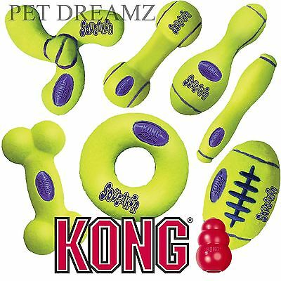 Kong Air Dog Puppy Squeaker Fetch Retrieval Tennis Ball Style Toys