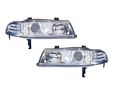 Honda Prelude 92 - 96 Performance Projector Chrome Head Light Lamp Set Pair