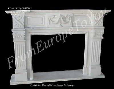 Hand Carved Marble Classical Fireplace Mantel Fgd032