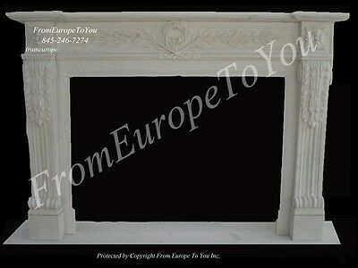 Hand Carved Classical Marble Fireplace Mantel Fgd011