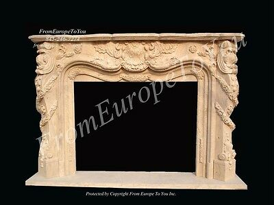 Hand Carved French Style Marble Fireplace Mantel Mbf042