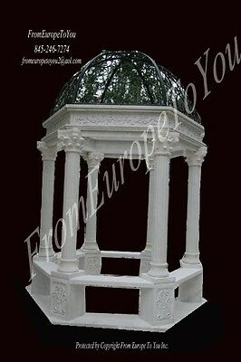 Hand Carved Marble Victorian Style Garden Gazebo Gz10