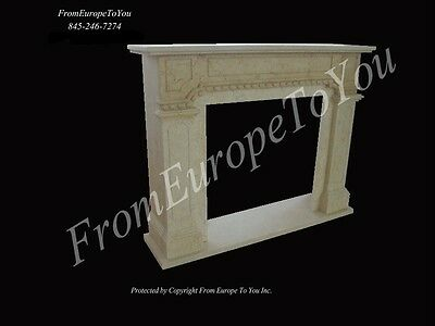 Nice Egypt Cream Hand Carved Fireplace Mantel Ly007