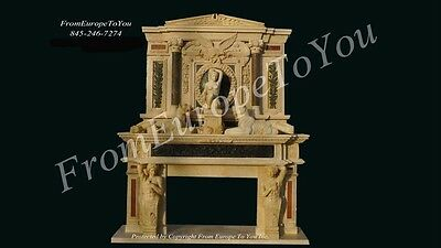 The Best Hand Carved Figural Marble Fireplace Mantel