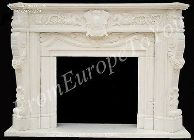 Hand Carved Marble Classical Fireplace Mantel Fpm4