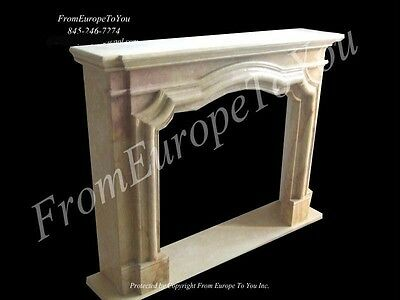 Hand Carved Marble Figural Fireplace Mantel Mby64
