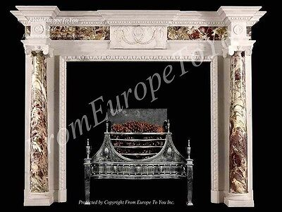 Hand Carved French Style Marble Fireplace Mantel Lm028