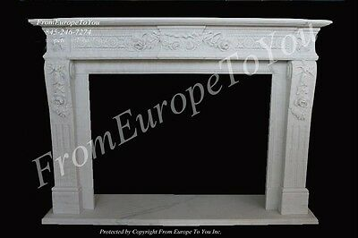 Nice Hand Carved Classical Fireplace Mantel
