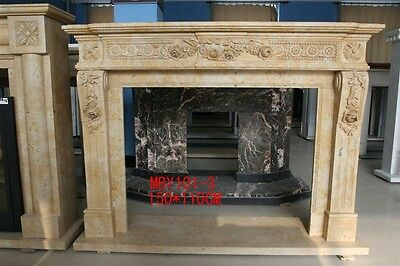 Nice Hand Carved Classical Fireplace Mantel #mby101-3