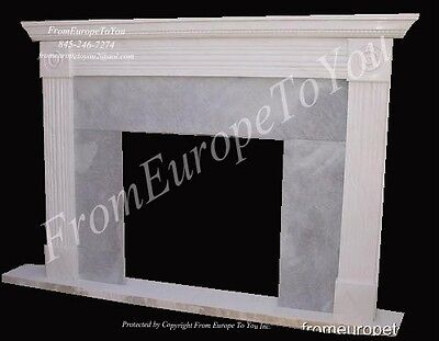 Classical Hand Carved Marble Fireplace Mantel Tl131