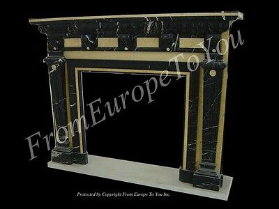Beautiful Hand Carved Marble Fireplace Mantel Fnt12