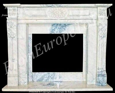 Beautiful Hand Carved Marble Fireplace Mantel Tle22