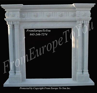 Beautiful  Hand Carved Marble Fireplace Mantel Fpmp3