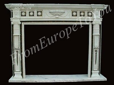 Hand Carved French Style Marble Fireplace Mantel Lm050