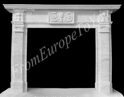 Hand Carved Marble Classical Fireplace Mantel Tle20