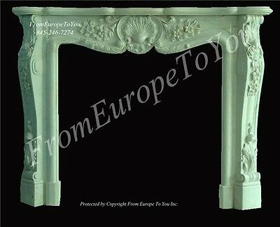 French Style Carved Marble Fireplace Mantel 09Tl008