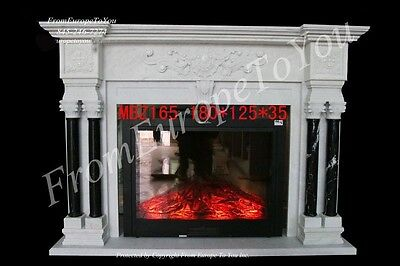 Hand Carved Marble French Style Fireplace Mantel #mbz165