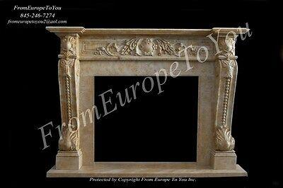 Nice Hand Carved Marble Fireplace Mantel Mby110