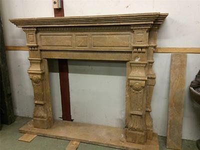 Hand Carved Marble  Estate Fireplace Mantel - Bf2