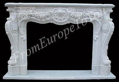 Best Hand Carved French Style Fireplace Mantel Tl009