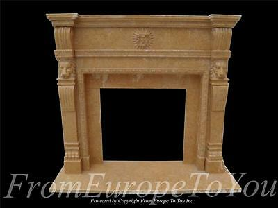 Hand Carved Marble Fireplace Mantel With Apollo-- Hl27B