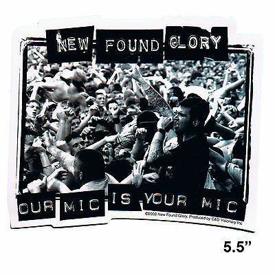 STICKER - New Found Glory Our Mic Is Your Band Rock Vinyl Music Decal SA31