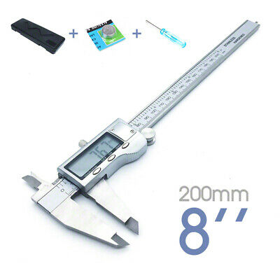 "Digital Vernier Caliper 0-200 mm (8"") Stainless Steel Micrometer Guage Brand New"