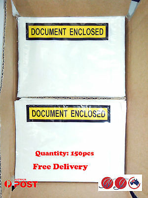 """Document Enclosed"" Envelopes invoice enclosed packing slip 150pcs 150mmx 115mm"