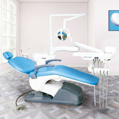 Dental Unit Chair Computer Controlled hard leather A1 with stool FDA-CE Approved