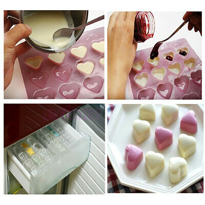 Silicone Ice Cube Candy Chocolate Cake Cookie Cupcake Soap Molds Mould DIY New