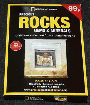 National Geographic Precious Rocks Gems & Minerals Collection Magazine 1 Gold 22