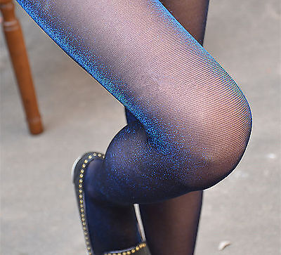 Women Shimmer Shine Glitter Sexy Sheer Stockings Pantyhose Tights Opaque Hosiery