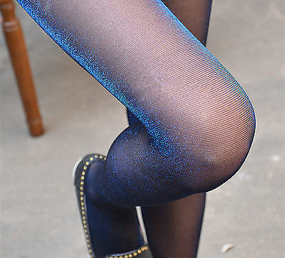 Women Shimmer Shiny Glitter Sexy Sheer Stockings Pantyhose Tights Opaque Hosiery