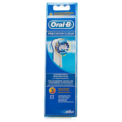Oral-B Precision Clean Heads - Pack of 3, Fast, Free UK Shipping