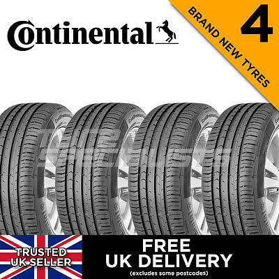 4x NEW 205 55 16 CONTINENTAL PREMIUM CONTACT 5 91V 205/55R16 'A' WET GRIP