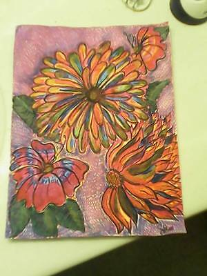 """8 1/2 X 11 Print- """"Brilliance in Bloom"""" Flowers, Mixed Media, Unframed"""