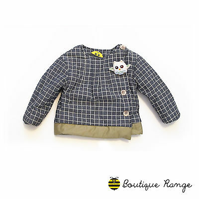 Girls Toddlers Smart Cute Lovely Cotton Jacket with Free Owl Brooch (2-6Y)