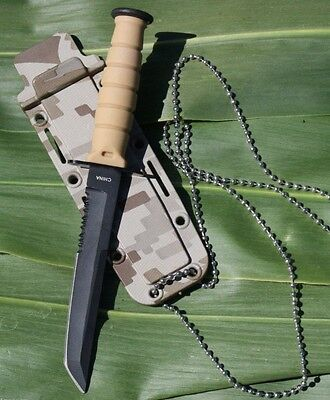 """6"""" Hunting KNIFE Survival Mini Combat Tactical Blade Bowie Neck Keychain Tanto"""