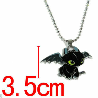 HOT! How To Train Your Dragon Toothless Night Fury toy doll Figure necklace