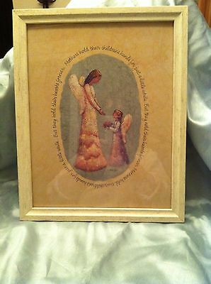 "Home Interiors "" All Mothers are Angels"" Framed Print-Roma Downey Collection"