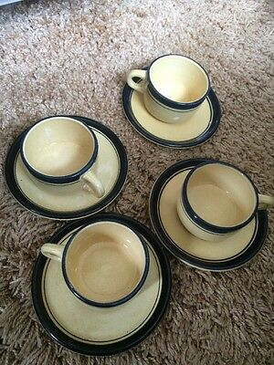 Inalterable Salinas France Set Of 4 Demitasse Cups With Saucers VGuC