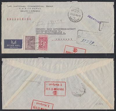 1958 Saudi Arabia R-Cover to Germany, Mecque cds [cm389]