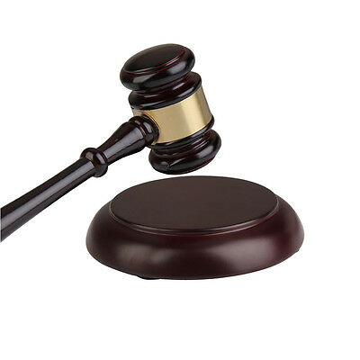 Handcrafted Wooden Wood Gavel Sound Block Gift for Lawyer Judge Auction Sale New