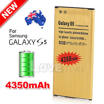 Premium For Samsung Galaxy S5 Battery Replacement 4350mAh Li-ion Gold G900 i9600