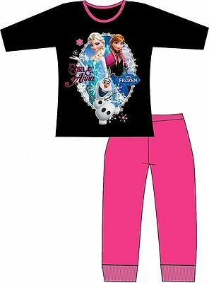 Official Disney Frozen Anna & Elsa Olaf Girls Pink Cotton Pyjamas 4/5  5/6 BNWT