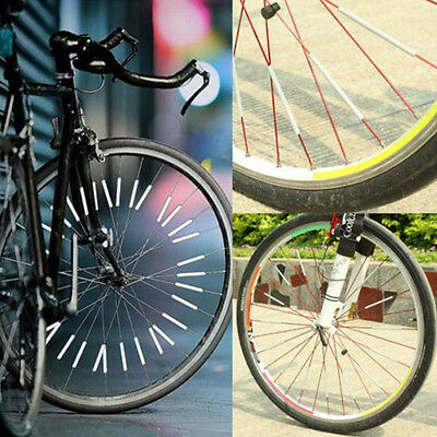12PCS Bicycle Wheel Rim Spoke Bike Mount Tube Warning Light Strip Reflector LI1