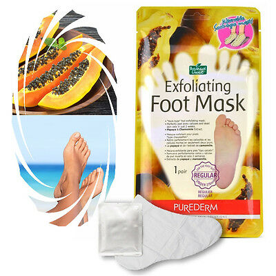 Purederm - Exfoliating Foot Mask Soft Feet Remove Scrub Callus Hard Dead Skin