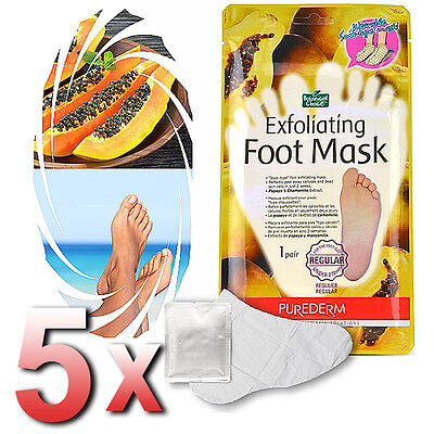 Purederm - 5x Exfoliating Foot Mask Soft Feet Remove Scrub Callus Hard Dead Skin